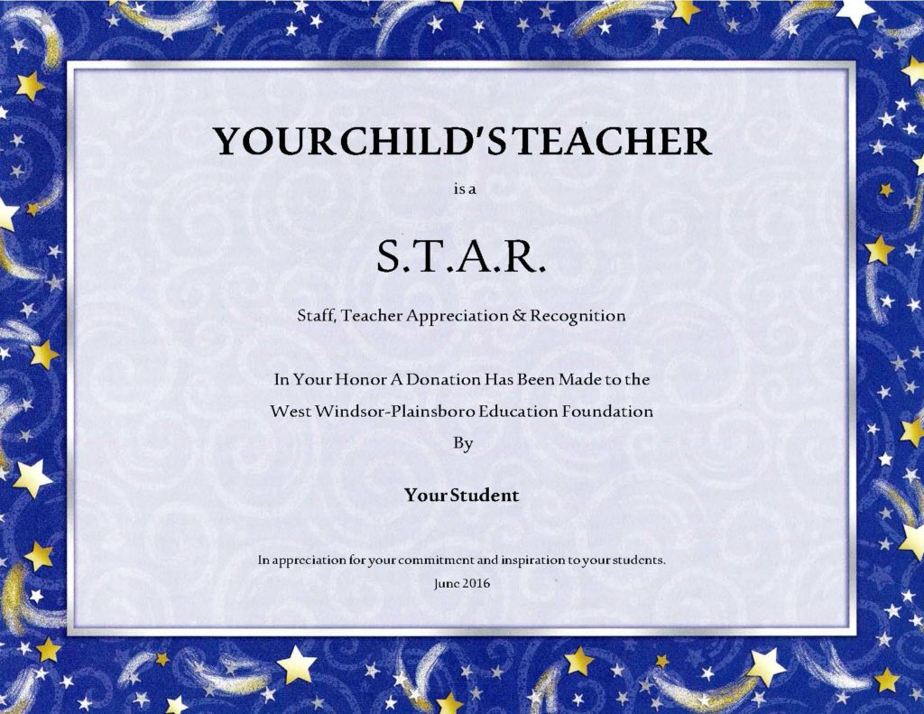Stars Now Available Honor Your Childs Teacher